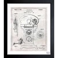 Oliver Gal 'Astronomical Clock 1930' Framed Blueprint Art
