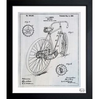Link to Oliver Gal 'Bicycle 1899' Framed Blueprint Art Similar Items in Canvas Art