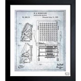 'Calculating Machine 1888' Framed Blueprint Art