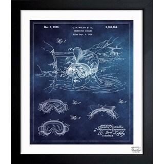 'Underwater Goggles 1939' Framed Blueprint Art