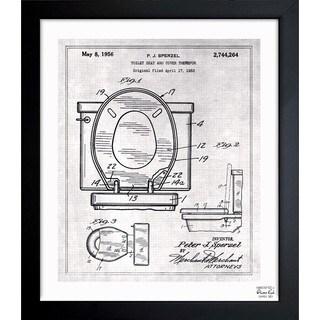Oliver Gal 'Toilet Seat 1956' Framed Blueprint Art