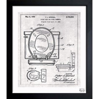 Link to Oliver Gal 'Toilet Seat 1956' Framed Blueprint Art Similar Items in Canvas Art