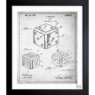 Oliver Gal 'Dice 1925' Framed Blueprint Art