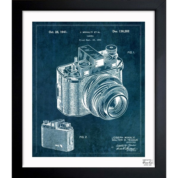 Oliver Gal 'Kodak Camera 1941' Framed Blueprint Art