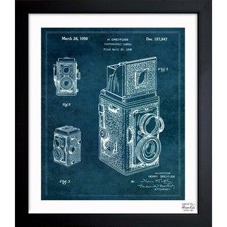 Oliver Gal 'Rolleiflex Camera 1950' Framed Blueprint Art