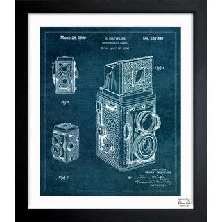 'Rolleiflex Camera 1950' Framed Blueprint Art