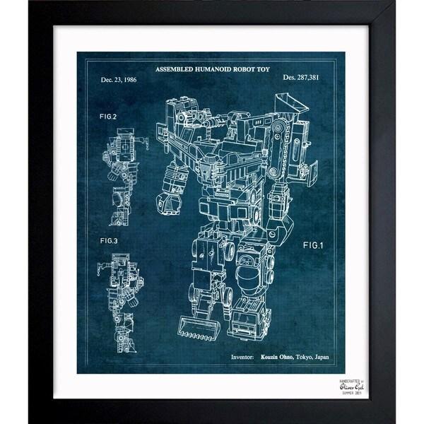 Oliver Gal 'Devastator 1986' Framed Blueprint Art