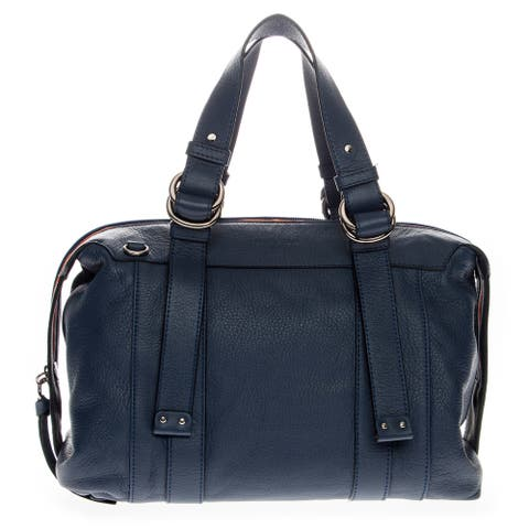 See by Chloe Tri-Color Medium Grained Leather Top Zip Boston Bag