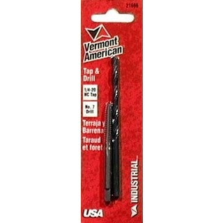 Vermont American 21666 0.25 20 NC #7 Tap and Drill Combination