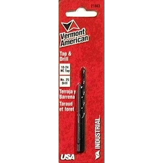 Vermont American 21663 10-24 NC #25 Tap and Drill Combination