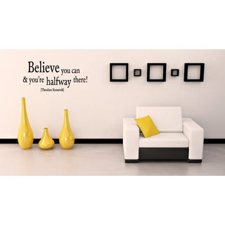 Inscription Believe You Can quote Wall Art Sticker Decal