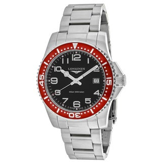 Longines Men's L36894596 HydroConquest Round Silver-tone Stainless Steel Bracelet Watch