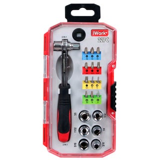 Olympia Tools 76-508-N12 22-piece 2 In 1 Ratchet Driver Set