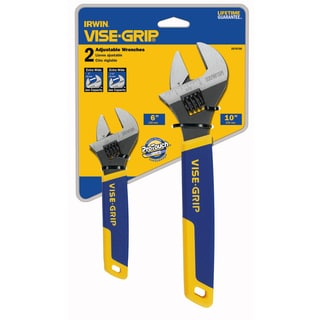 Irwin Vise Grip 2078700 Adjustable Wrench Set 2-count