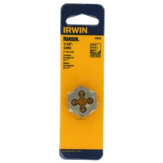 Irwin Hanson 9439 1-inch 7/16-14NC Hexagon Machine Screw Die