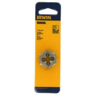 Irwin Hanson 9434 1-inch .375-16NC Hexagon Machine Screw Die