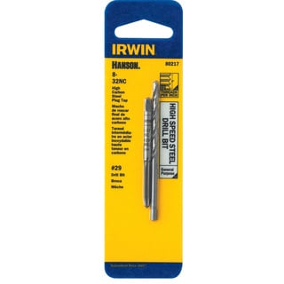 Irwin Hanson 80217 #29 8-32NC High Speed Steel Drill Bit and Tap