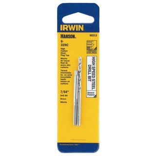Irwin Hanson 80213 7/64-inch 6-32NC High Speed Steel Drill Bit and Tap