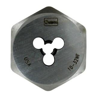 Irwin 9331ZR 1-inch 10-32 NF High Carbon Steel Hex Die
