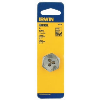 Irwin 9324 1-inch HCS Hex Machine Screw Die