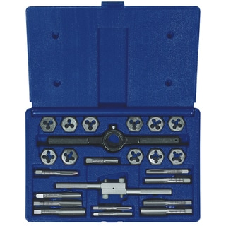 Irwin 24614 Steel Fractional Tap and Hex Die Set 24-count