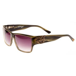 Ed Hardy Olive Horn Ehs Tiger Mouth Men's Sunglasses|https://ak1.ostkcdn.com/images/products/11534576/P18481523.jpg?impolicy=medium