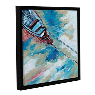 Stuart Roy's ' Boat And Rope' Gallery Wrapped Floater-framed Canvas
