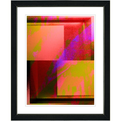 Studio Works Modern 'Cinnabar Cube' Wall Art Framed Fine Art Print