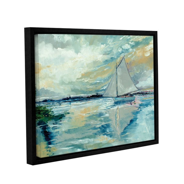 Stuart Roy's ' Boat On Broads' Gallery Wrapped Floater-framed Canvas