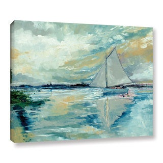Stuart Roy's ' Boat On Broads' Gallery Wrapped Canvas