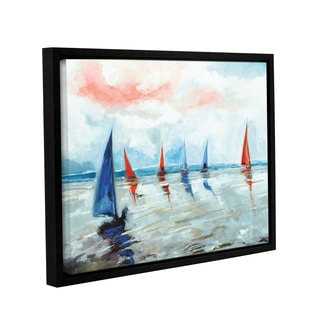 Stuart Roy's ' Sailing Boats Regatta' Gallery Wrapped Floater-framed Canvas