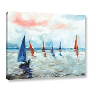 Stuart Roy's ' Sailing Boats Regatta' Gallery Wrapped Canvas - multi