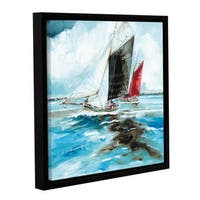 Stuart Roy's ' Racing Barges' Gallery Wrapped Floater-framed Canvas