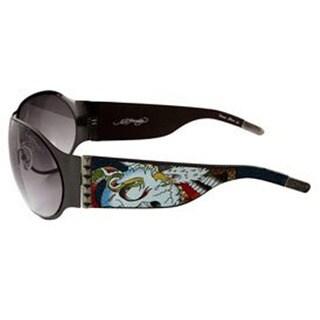 Ed Hardy Battle Ehs 011 Gunmetal Grey Gradient Sunglasses