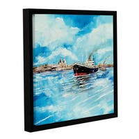 Stuart Roy's ' Steamer III' Gallery Wrapped Floater-framed Canvas