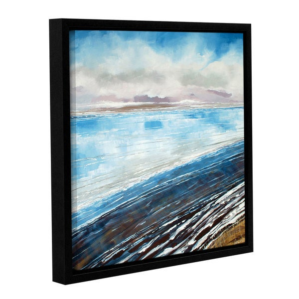 Stuart Roy's ' Weybourne Winter Beach' Gallery Wrapped Floater-framed Canvas