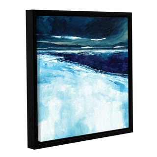 Stuart Roy's ' Winter Beach' Gallery Wrapped Floater-framed Canvas