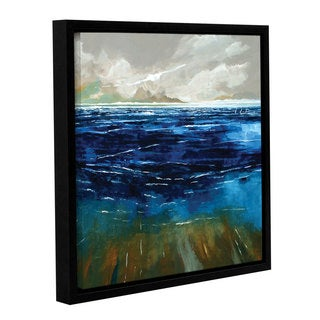 Stuart Roy's ' Beach And Sea' Gallery Wrapped Floater-framed Canvas
