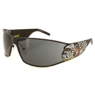 Ed Hardy Ehs-018 Black Solid Grey La Dog Sunglasses
