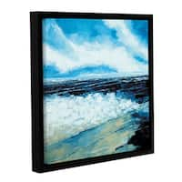 Stuart Roy's ' On The Beach' Gallery Wrapped Floater-framed Canvas