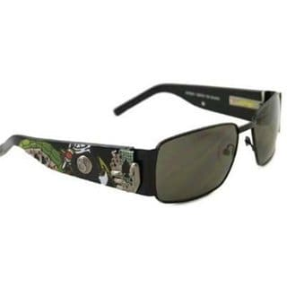 Ed Hardy Ehs-041 Black Grey Catcher Sunglasses