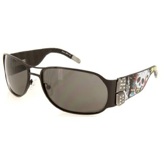 Ed Hardy Ehs 037 Color Black Sunglasses