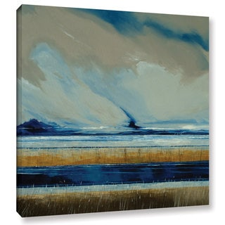 Stuart Roy's ' Reeds And Sky I' Gallery Wrapped Canvas