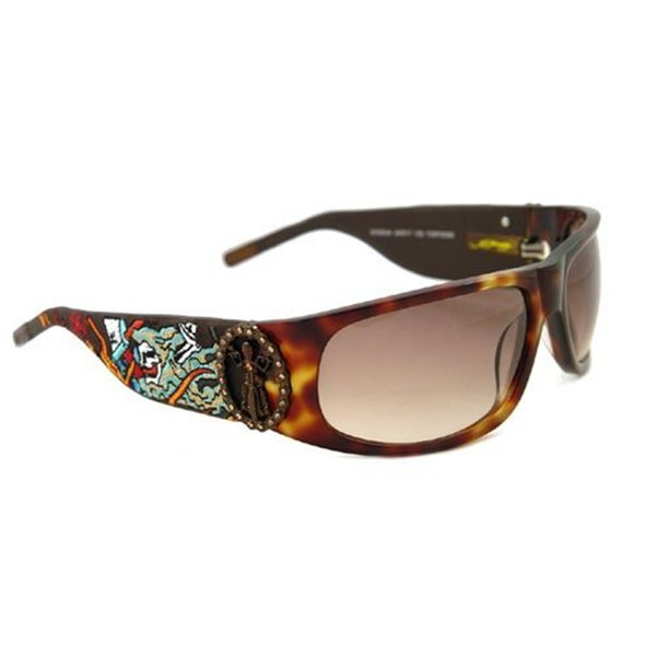 4abe83d0e12 Ed Hardy Live To Ride Ehs-044 Tortoise Brown Gradient Sunglasses