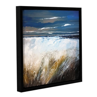 Stuart Roy's ' Ferns And Beach' Gallery Wrapped Floater-framed Canvas