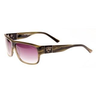 Ed Hardy Olive Horn Grey Gradient 62 13 135 Tiger Head Sunglasses