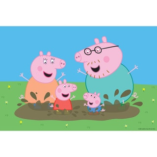 Marmont Hill 'Playing in the Mud' Peppa Pig Painting Print on Canvas