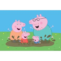 Marmont Hill 'Playing in the Mud' Peppa Pig Painting Print on Canvas - Multi-color