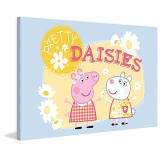Marmont Hill 'Pretty Daisies' Peppa Pig Painting Print on Canvas