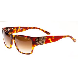 Ed Hardy Ehs Tiger Mouth Men's Matte Tortoise Sunglasses